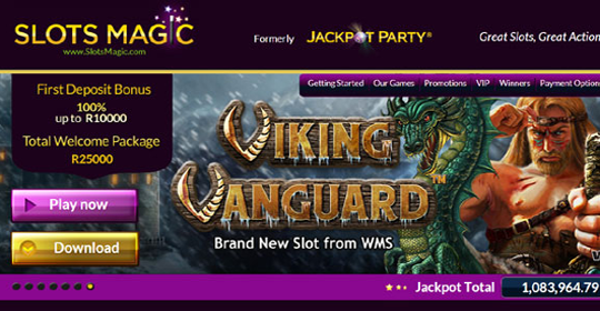 The homepage of Slots Magic Casino