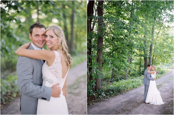 bride and groom, Rustic Wisconsin Resort Wedding, Emily Steffen Photography
