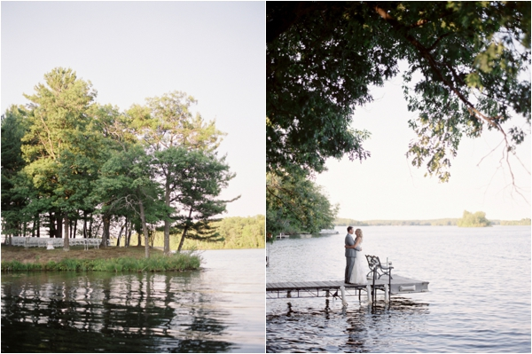 lakeside wedding ceremony, lakeside bride and groom portraits, Rustic Wisconsin Resort Wedding, Emily Steffen Photography