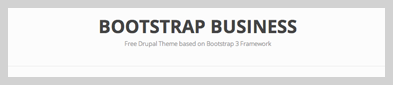 Bootstrap Business Free Drupal theme