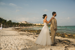 A beach destination wedding at the Barcelo Maya in Riviera Maya, Mexico