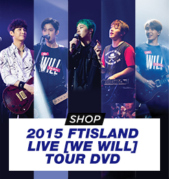 SIGNED 2015 FTISLAND LIVE [WE WILL] TOUR DVD **LIMITED EDITION**