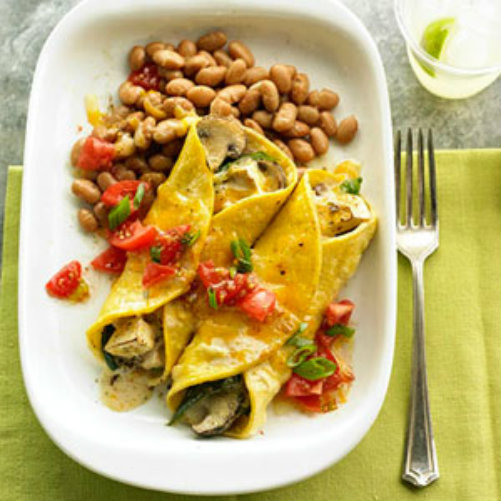 mushroom-and-poblano-vegetarian-enchiladas