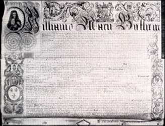 The Charter of the Bank of England (1694)