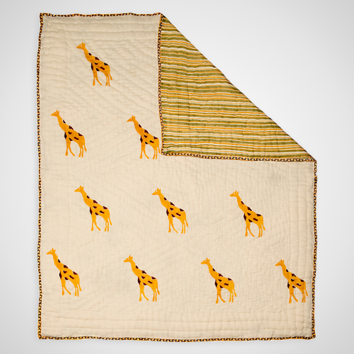 yellow giraffe quilt naaya by moonlight rattle me that