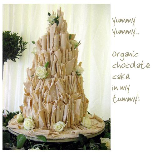 Organic chocolate wedding cake