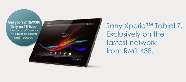 Celcom offers Sony Xperia Tablet Z from as low as RM1438
