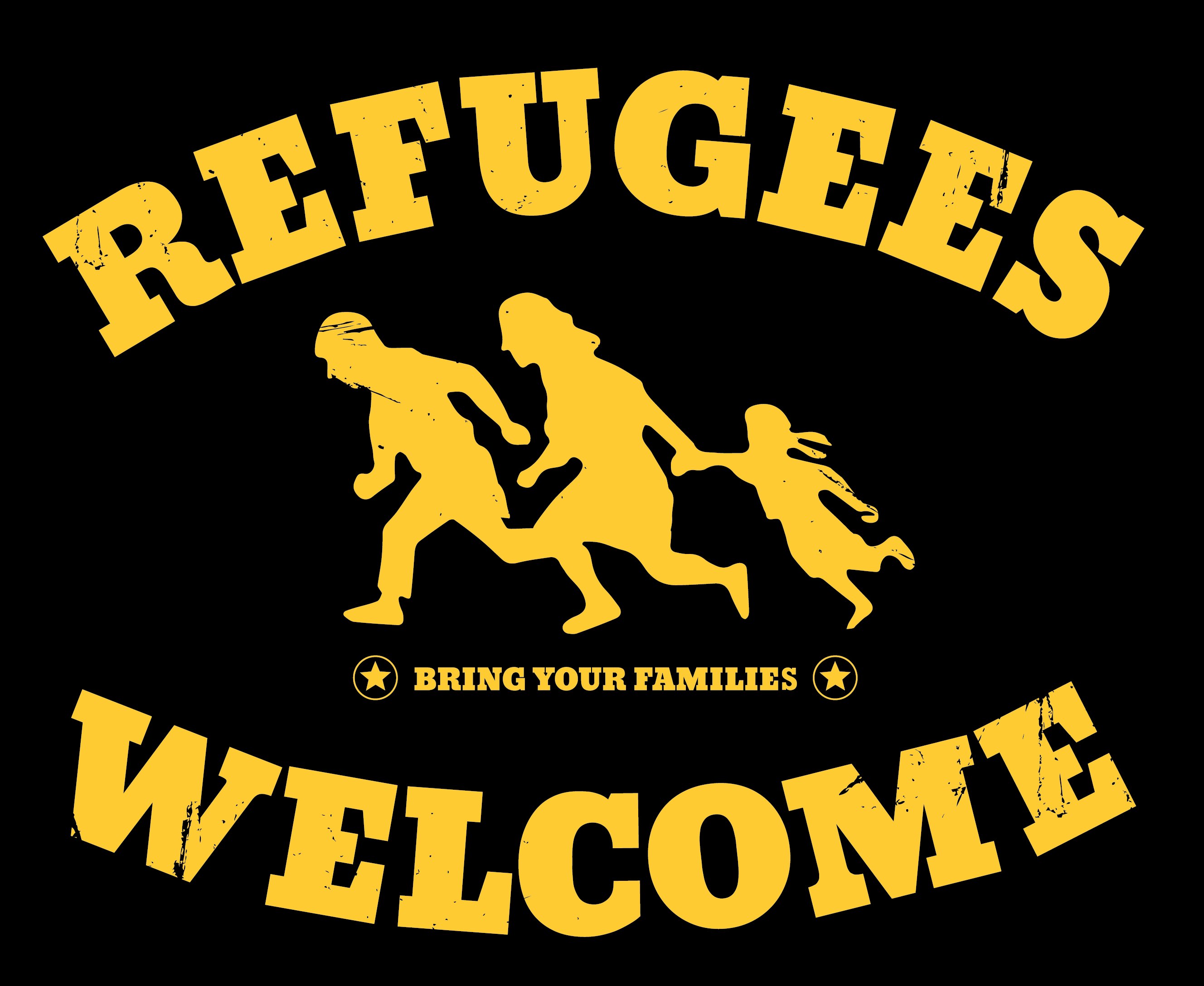 [Logo: Refufees Welcome!]