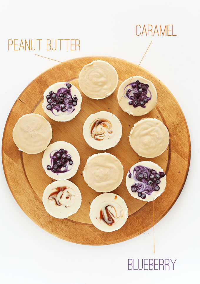 Vegan Cheesecake Bites 3 ways! MinimalistBaker.com