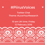 Love your research! A #piirusvoices Twitter chat