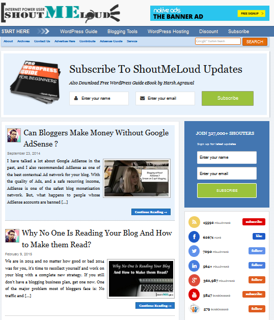Blogging with Shoutmeloud