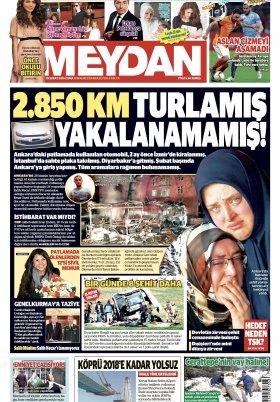 Meydan Gazetesi - Haberler Gazeteler Son Dakika - 19.02.2016 Manşeti