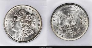 Morgan Dollar Graded Mint State-63 (MS63) - Photo courtesy of Teletrade Coin Auctions, www.teletrade.com