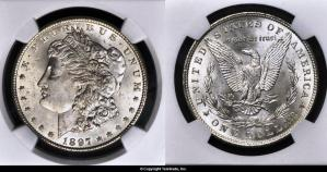 Morgan Dollar Graded Mint State-65 (MS65) - Photo courtesy of Teletrade Coin Auctions, www.teletrade.com