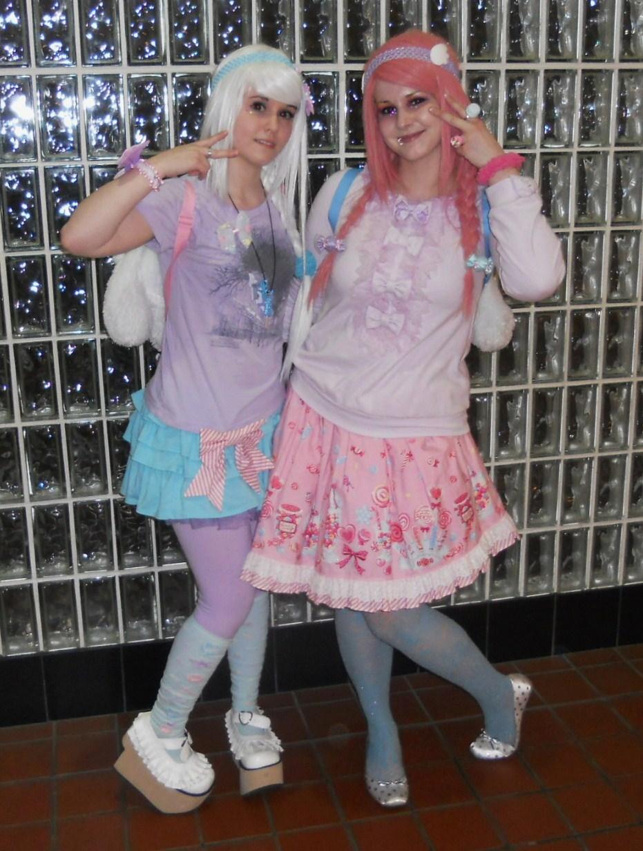 Японский стиль в одежде розовость