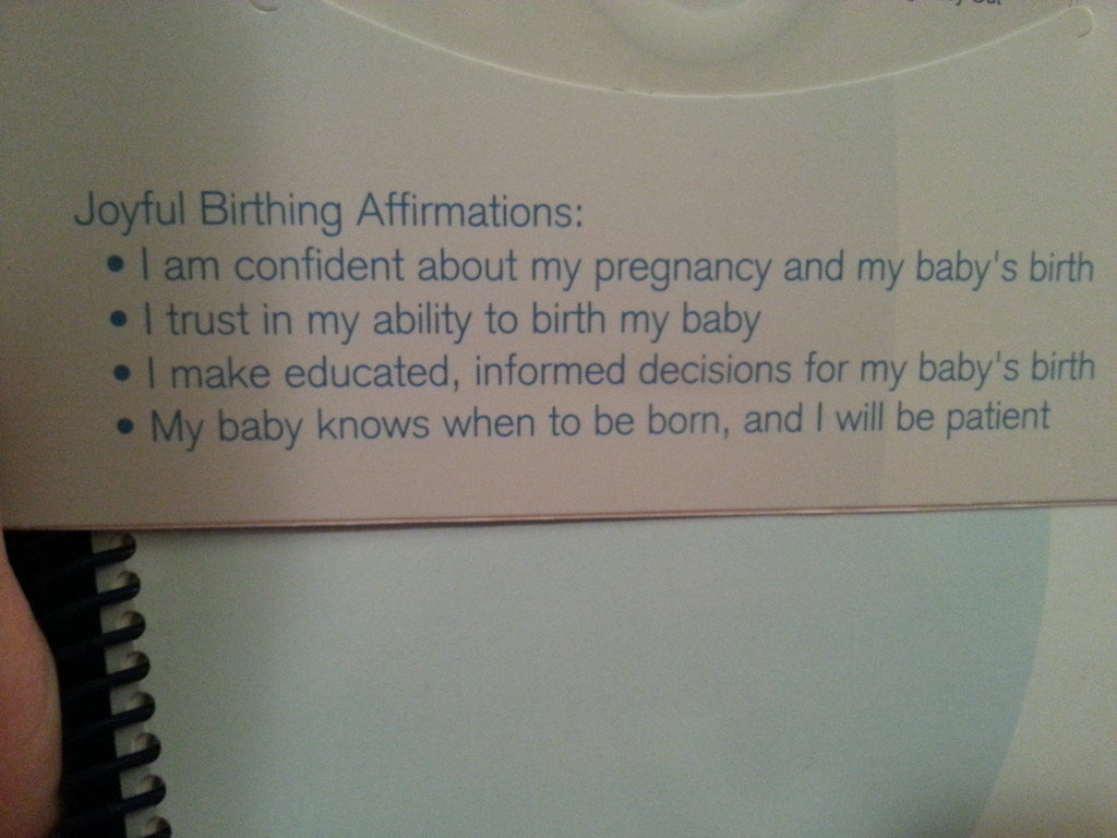 positive birthing affirmations