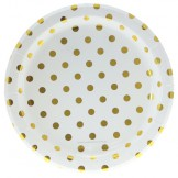 Gold Dot Party Plates (set of 12)