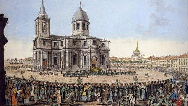 Торжественное возвращение С. петербургского ополчения июня 12-го дня 1814 года. Иванов И.А.