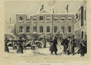 """Вильгельм Фабер дю Фор. """"Бивак в Смоленске. 13 ноября 1812 года"""""""