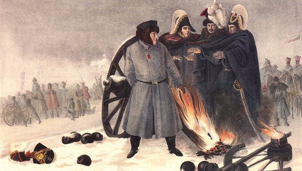 """Вильгельм Фабер дю Фор. """"На дороге недалеко от Пневы. 8 ноября 1812 года"""""""