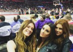 Lea Michele Spent an Entire Basketball Game Staring at Beyonce and Jay-Z Because Who Wouldn't?