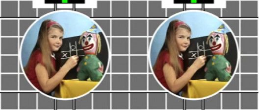 Central circle on 3D test card