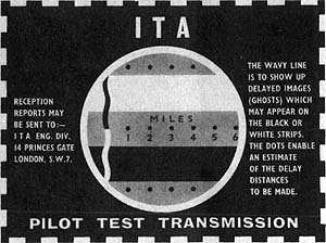ITA pilot test transmisison from 1955