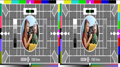 Electronic High Definition 3-D test card