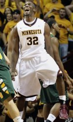 Minnesota's Trevor Mbakwe takes home his first Player of the Week award after leading the Gophers to a 5-0 start.