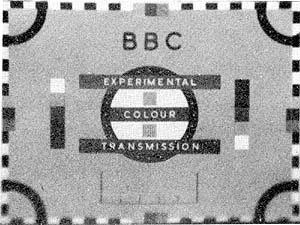 BBC experimental 405 colour test card