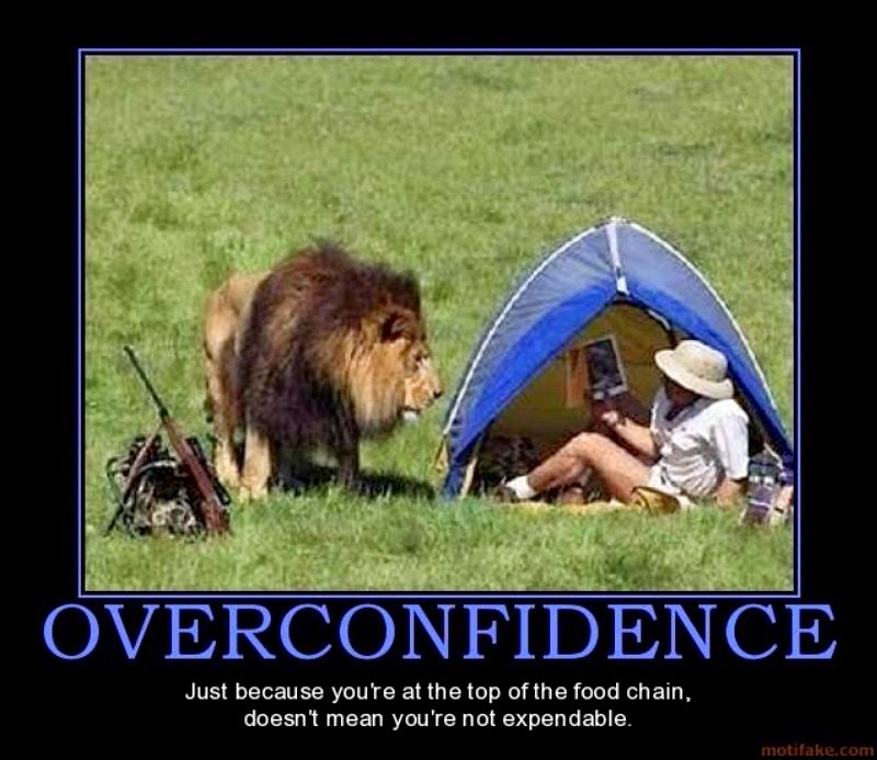 Why you should never overconfident 11 reasons