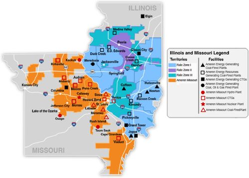 Ameren provides energy to customers in Illinois and Missouri