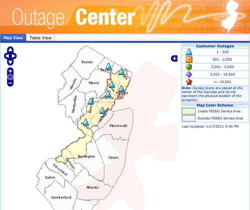 Pseg-outage-center