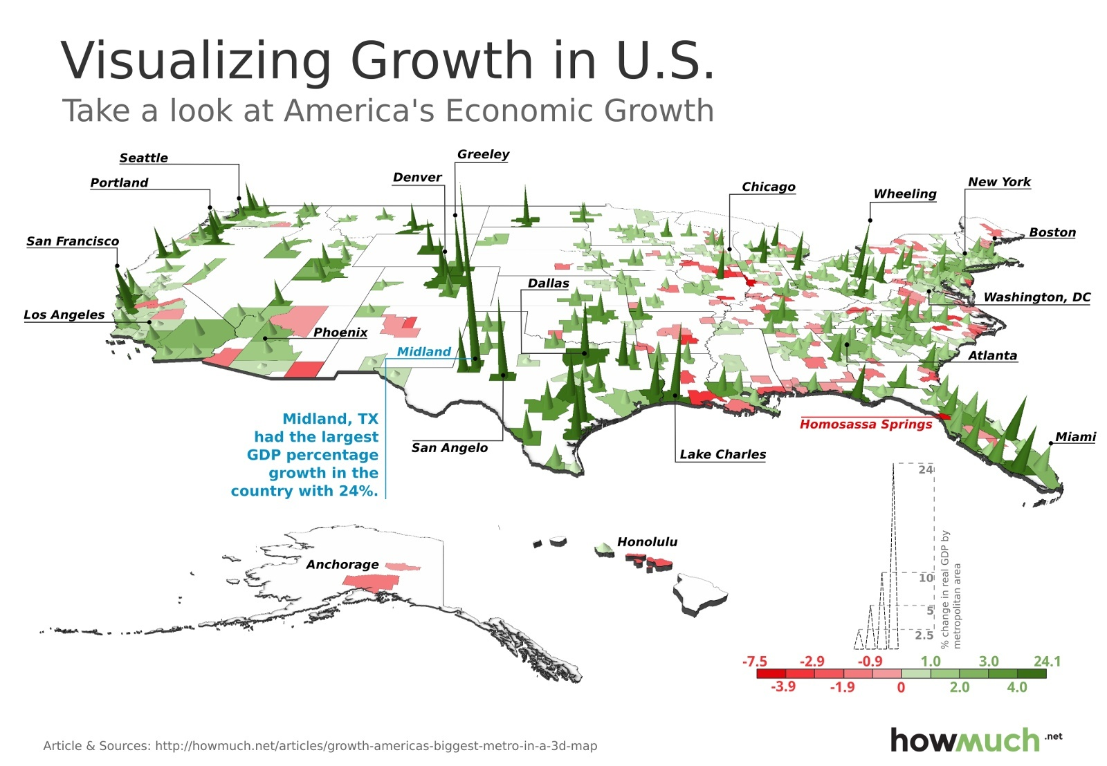 The American cities that are growing the fastest, mapped in 3D