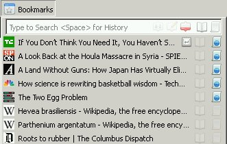 Default Bookmarks Search