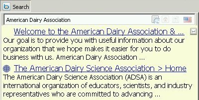 American Dairy Association Search