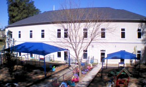 Overview of one of Living Springs Preschool & ASC outside play areas.