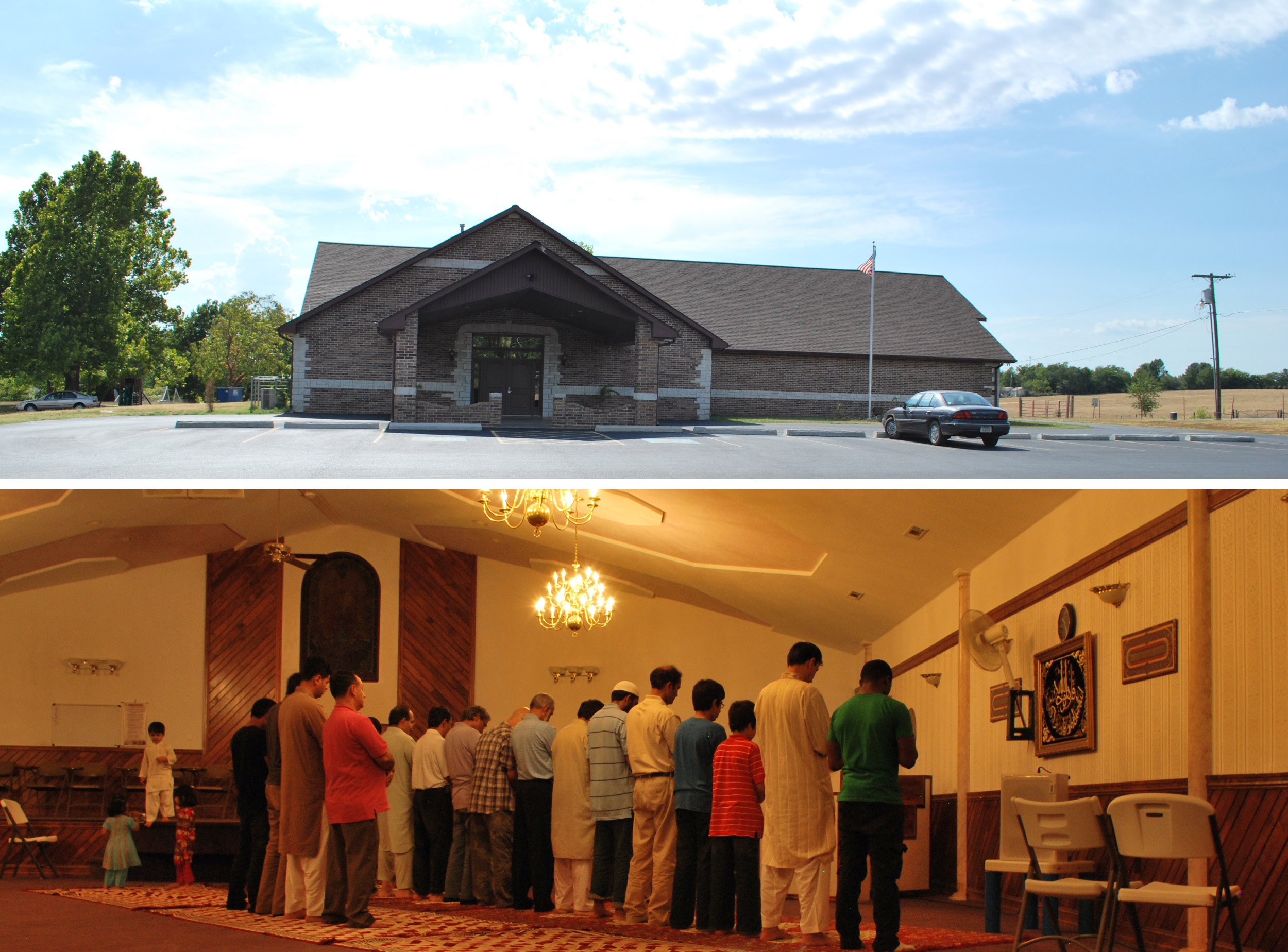 An evening of worship during Ramadan, here at the mosque after the July 4 arson attempt.
