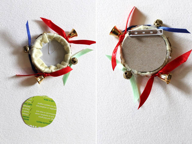 1950s tambourine novelty brooch tutorial 1