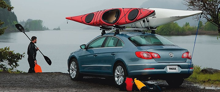 put your kayak on top of your car roof rack