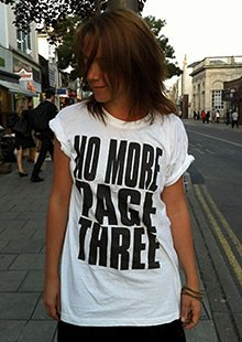Lucy-Anne Holmes, founder of the No More Page 3 campaign.