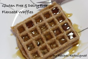 Gluten Free & Dairy Free Flaxseed Waffles by Recipes Redesigned