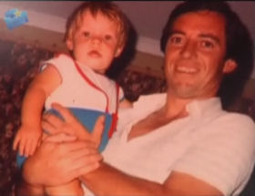 Baby AB with his father.