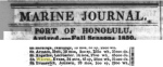 (10) By the fall of 1850, the Warren had left Hong Kong and returned to Honolulu.