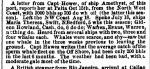 (5) By the time Thompson was on the Warren, whales were scarcer than they had been earlier in the century, as this report indicates.  Here, the Warren is in contact with the ship Amethyst on July 18, 1848 (reported December 12).