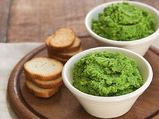 Supplied News Pea and parmesan dip
