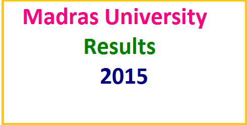 Madras University Exam Result 2016 Declared UG PG November Results @ unom.ac.in
