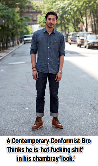 chambray-look