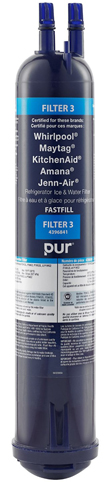 Whirlpool 4396841 PUR Push Button Side-by-Side Refrigerator Water Filter