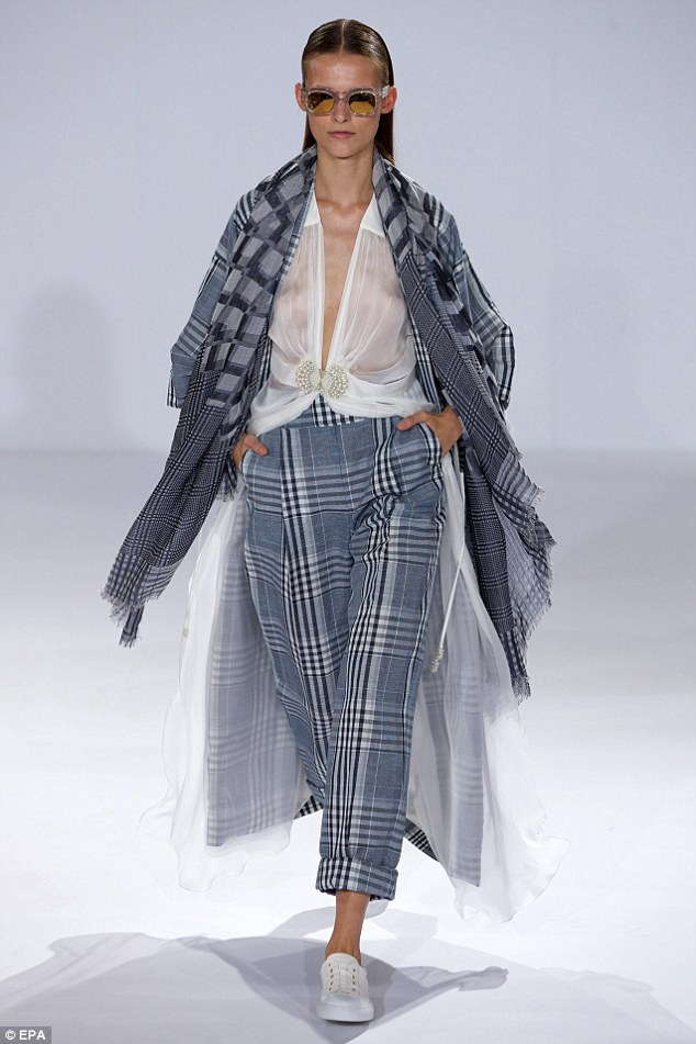 Almost modest: Alice Temperley's SS15 had a relaxed take on the trend featuring lots of layering a boxy shapes